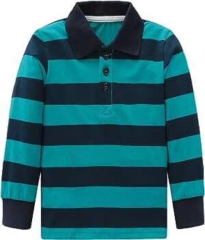 Noppies Baby-Boys B Long Sleeve Small YD Striped Polo Shirt