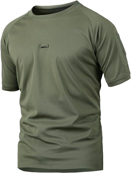 ReFire Gear Men Combat Tactical T Shirt Short Sleeve Army Military Uniform Shirt