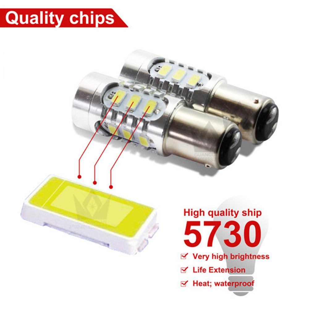 Tail Light SOCAL-LED 2x T25 3157 LED Bulbs 15W SMD 5730 High Power ...