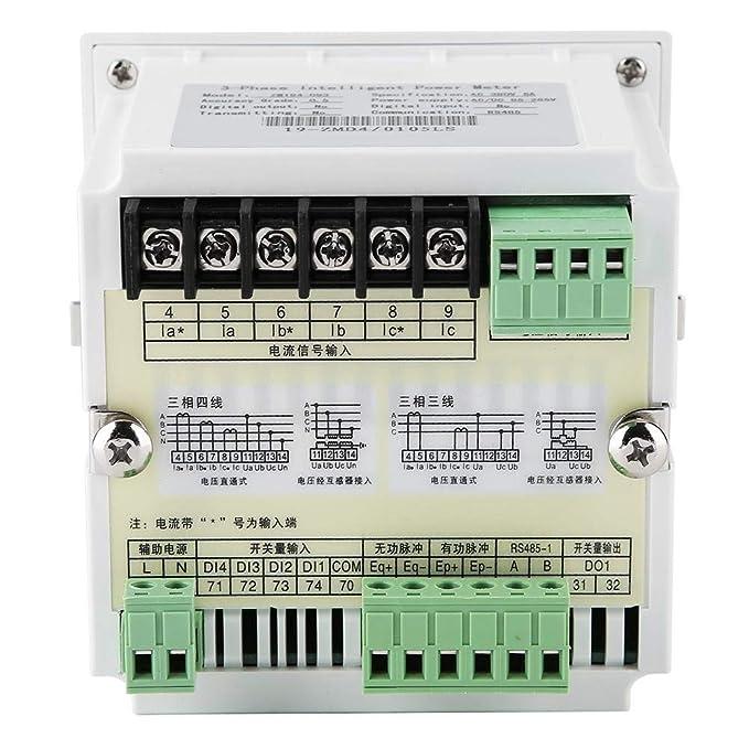 mootea Medidor de energía eléctrica programable trifásico ...