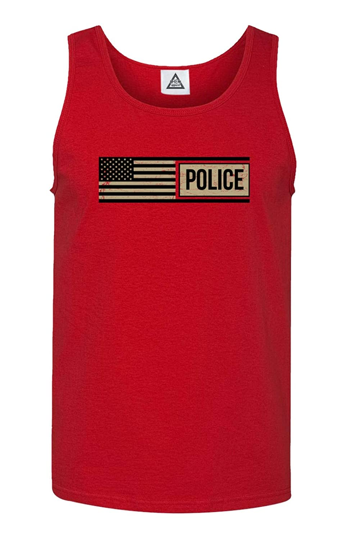 Sheki Apparel Police Tactical Flag Tank Top