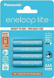 Panasonic Eneloop SY3052760 - Pack 4 Pilas Recargables, AAA: Amazon.es: Electrónica