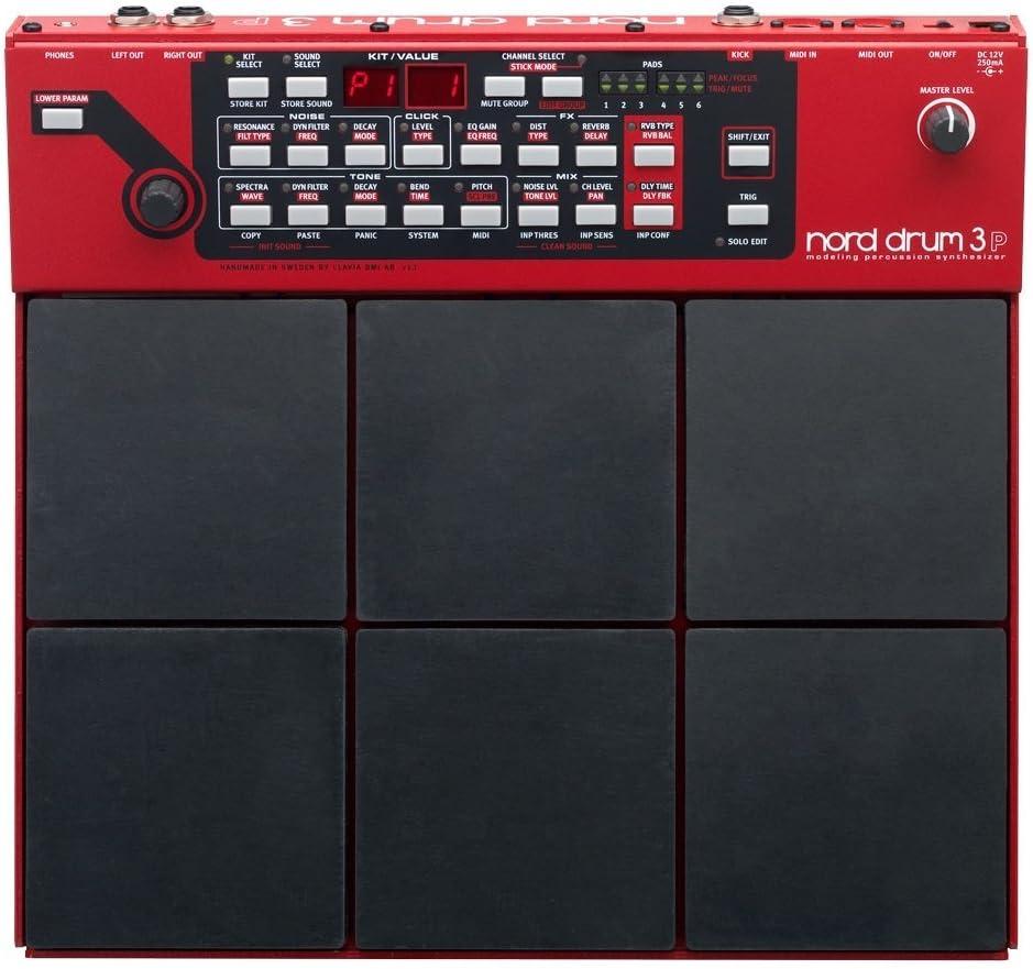 Sintetizador de percusión de 6 canales de modelado Nord Drum 3P