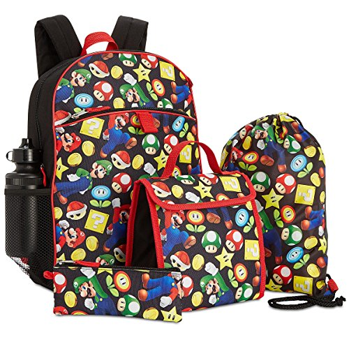Price comparison product image Super Mario Bros. 5 Piece Backpack Lunch Kit