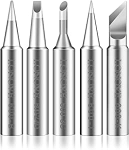 Soldering Iron Tips 5pcs Exclusive for BK90 BK901 BK60 Soldering Station, Multiple Model Tips Replacement Kit with Exquisite Package (T600-B, T600-I, T600-K, T600-2.4D, T600-3C)