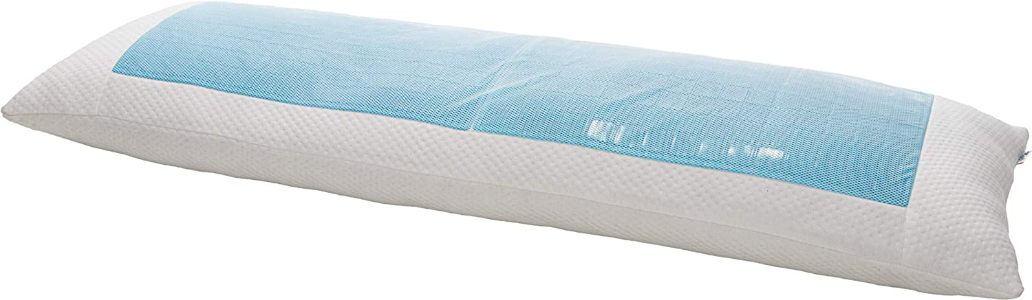 Mindful Design Cooling Body Pillow w/Soft Poly Fill - Firm Full Body Pillow w/Cooling Gel, Support and Comfort for Stomach and Side Sleepers