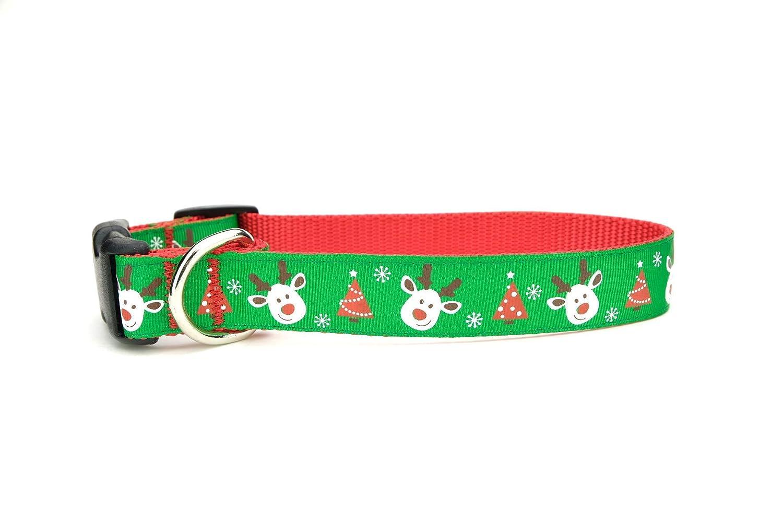 Christmas Dog Collar Holiday Collar Reindeer Collar Rudolph The Red Nose Reindeer Collar Winter dog Collar Christmas Tree Collar