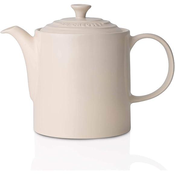 Le Creuset Stoneware Grand Teapot White Almond