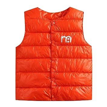 Saihui_Ropa para niños, Chalecos Acolchados para niños y niñas para otoño cálido Invierno con Cuello Redondo Chaleco Chaleco Chaleco Chaleco Camiseta Abrigo ...