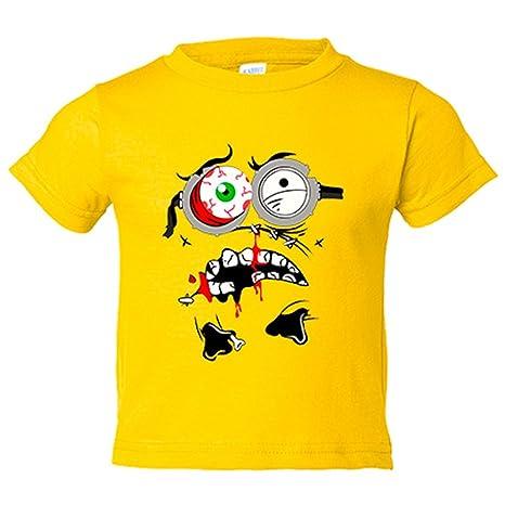 Camiseta niño Minion Zombie - Amarillo, 3-4 años