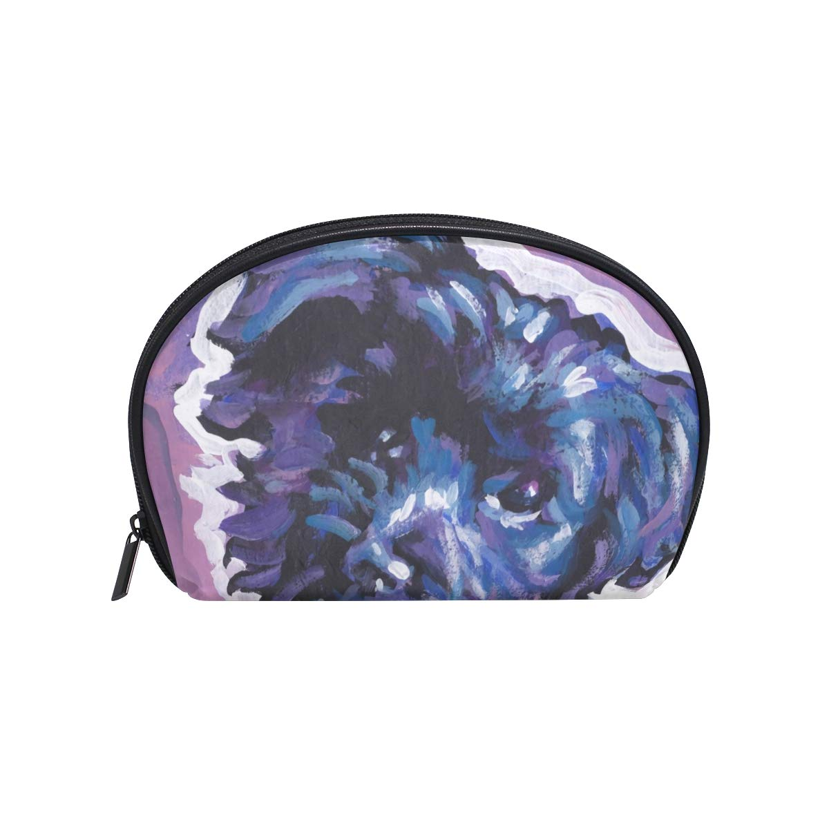 912cce592f5b Amazon.com : Half Moon Cosmetic Beauty Bag Havanese Dog Travel Handy ...