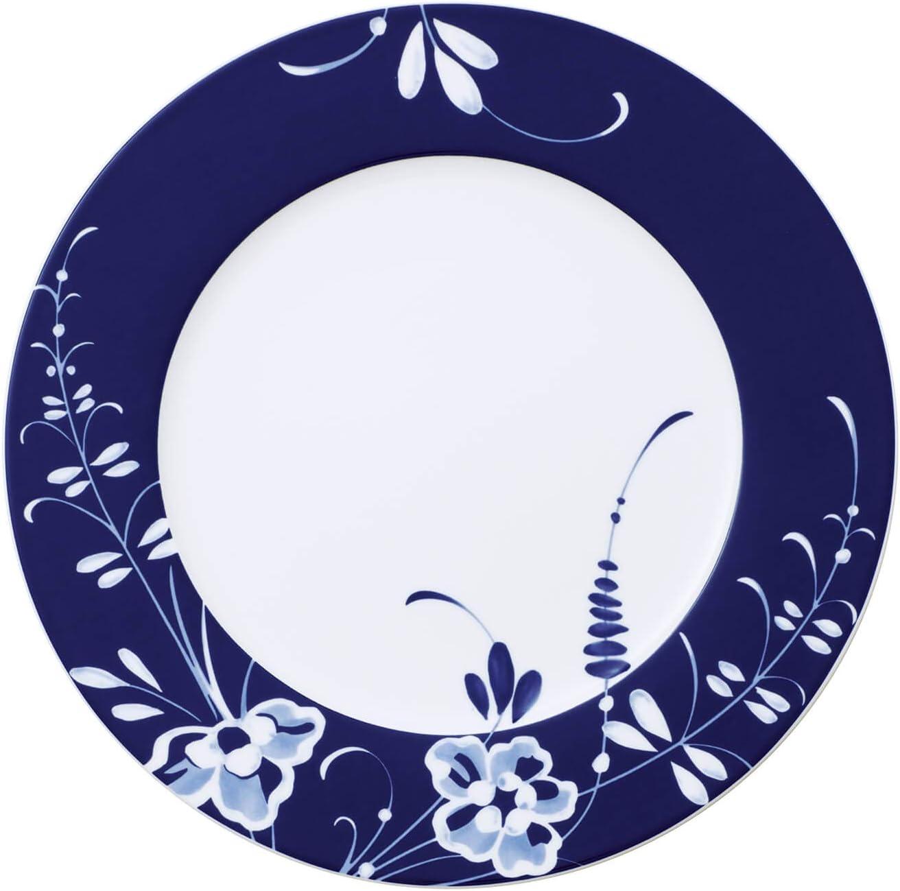 Villeroy /& Boch Vieux Luxembourg Brindille Schale Premium Porzellan Wei/ß//Blau