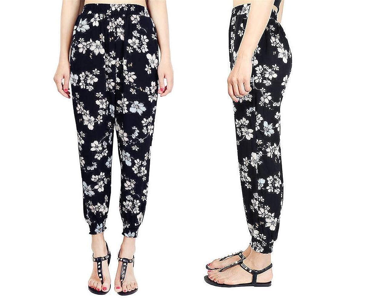 MaxxCloud High Waisted Harem Pants Yoga Pants with Pockets,Woman Bohemian Beach Pants