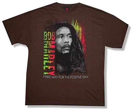 Amazoncom Bob Marley Make Way For The Positive Day Brown T Shirt