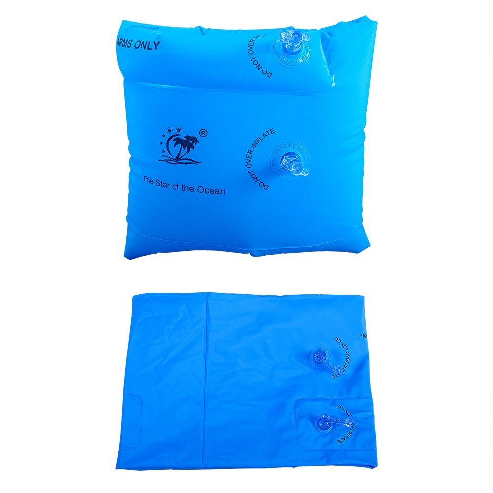 JMM Arm Floaties Inflatable Swim Arm Bands Floater Sleeves Swimming Rings Tube Armlets for Kids Toddlers and Adults