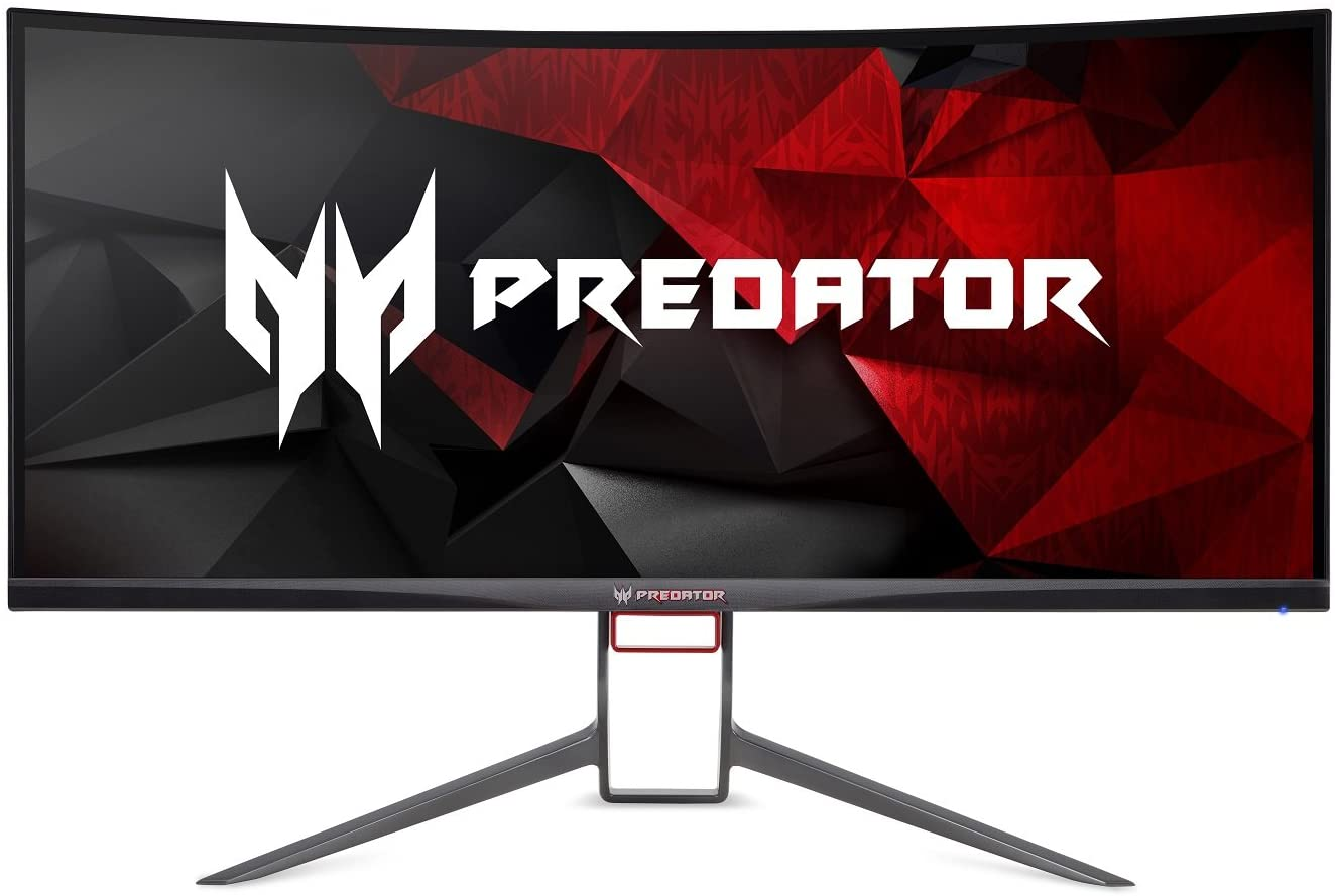 "Acer Predator Gaming X9 Pbmiphzx Curved 9"" UltraWide QHD Monitor with  NVIDIA G-SYNC Technology (Display Port & HDMI Port),Black"