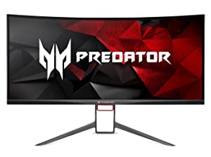 "Acer Predator Gaming X34 Pbmiphzx Curved 34"" UltraWide QHD Monitor with NVIDIA G-SYNC Technology (Display Port & HDMI Port)"