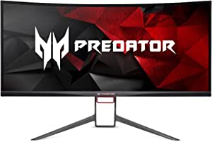 """Acer Predator Gaming X34 Pbmiphzx Curved 34"""" UltraWide QHD Monitor with NVIDIA G-SYNC Technology (Display Port & HDMI Port),Black"""