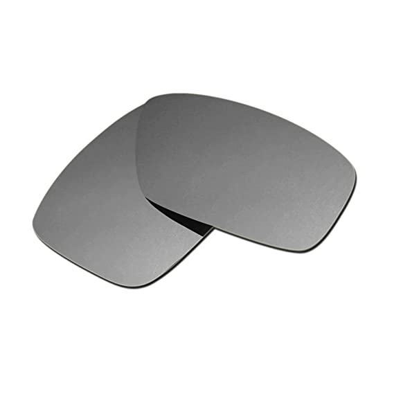 HKUCO Plus Mens Replacement Lenses For E9mIviYaUX Crankcase Sunglasses Titanium Mirror Polarized bmFGYeM