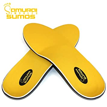 f1cde351194 Samurai Insoles Sumos- Super-Padded Orthotics for Flat Feet- Perfect for  Work Boots, Roomy...