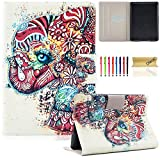 Kindle Paperwhite 3/2/1 Case, Dteck Slim Thin Synthetic Leather Wallet Case with [Auto Sleep Wake] Cute Flip Smart Stand Cover for Amazon Kindle Paperwhite 1/2/3 (6'' Display)-Cute Elephant