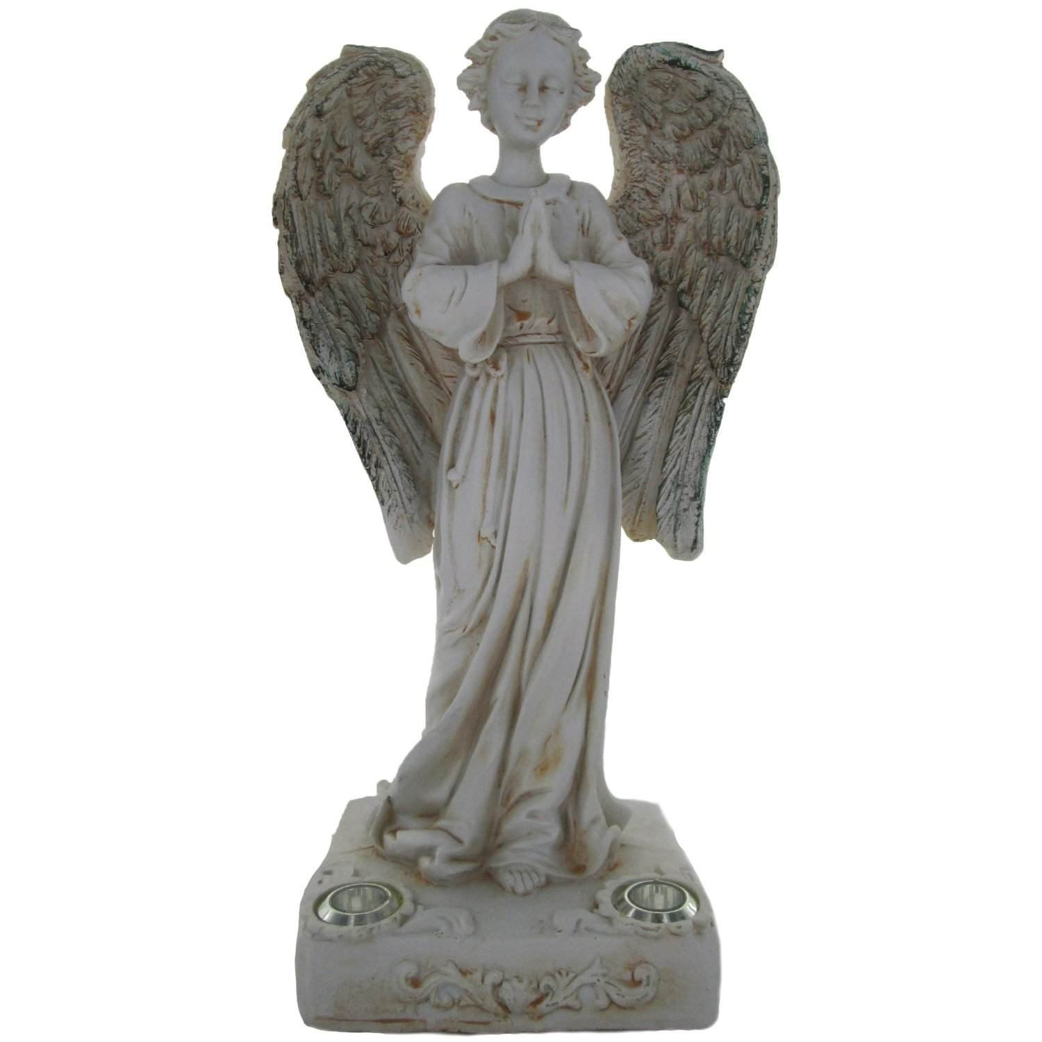 Solar Power 2 Amber LED Praying Angel Statue Garden Light by Xiong's Trading (Image #1)