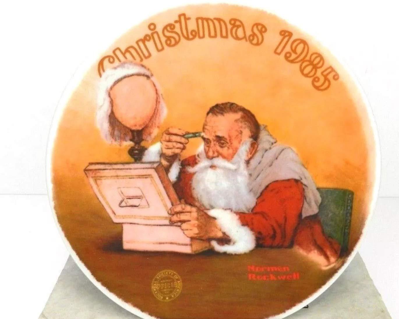 Amazon.com: Grandpa Plays Santa, Norman Rockwell Collector Plate ...