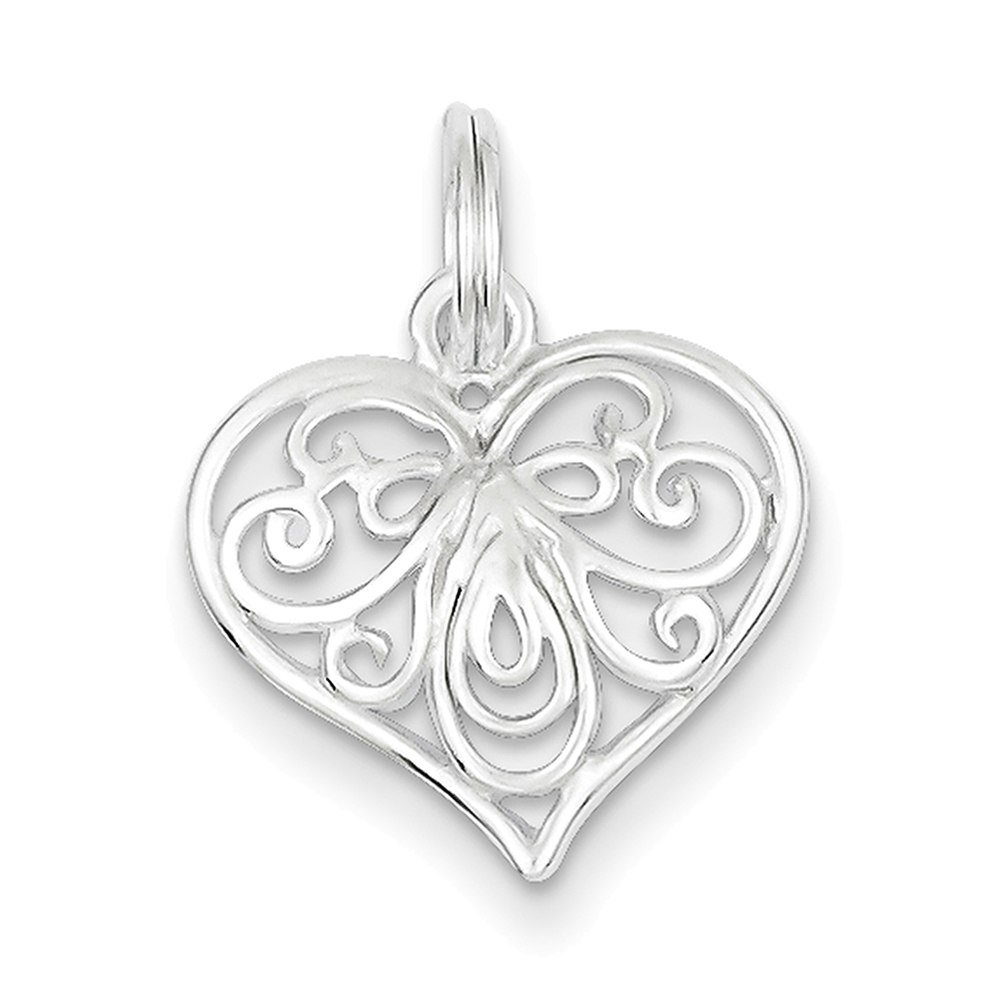 Lex /& Lu Sterling Silver Heart Charm LAL22889-Prime