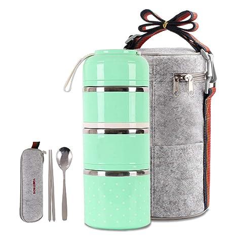 Amazon.com: Bonita caja de almuerzo aislada bolsa de ...