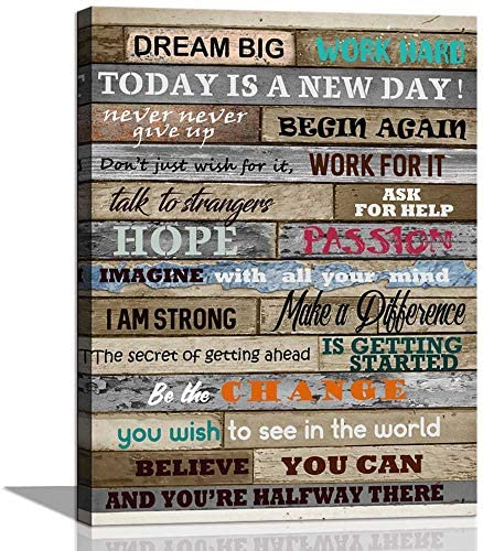 CANVASZON Inspirational Motivational Decoration 12x16inch product image