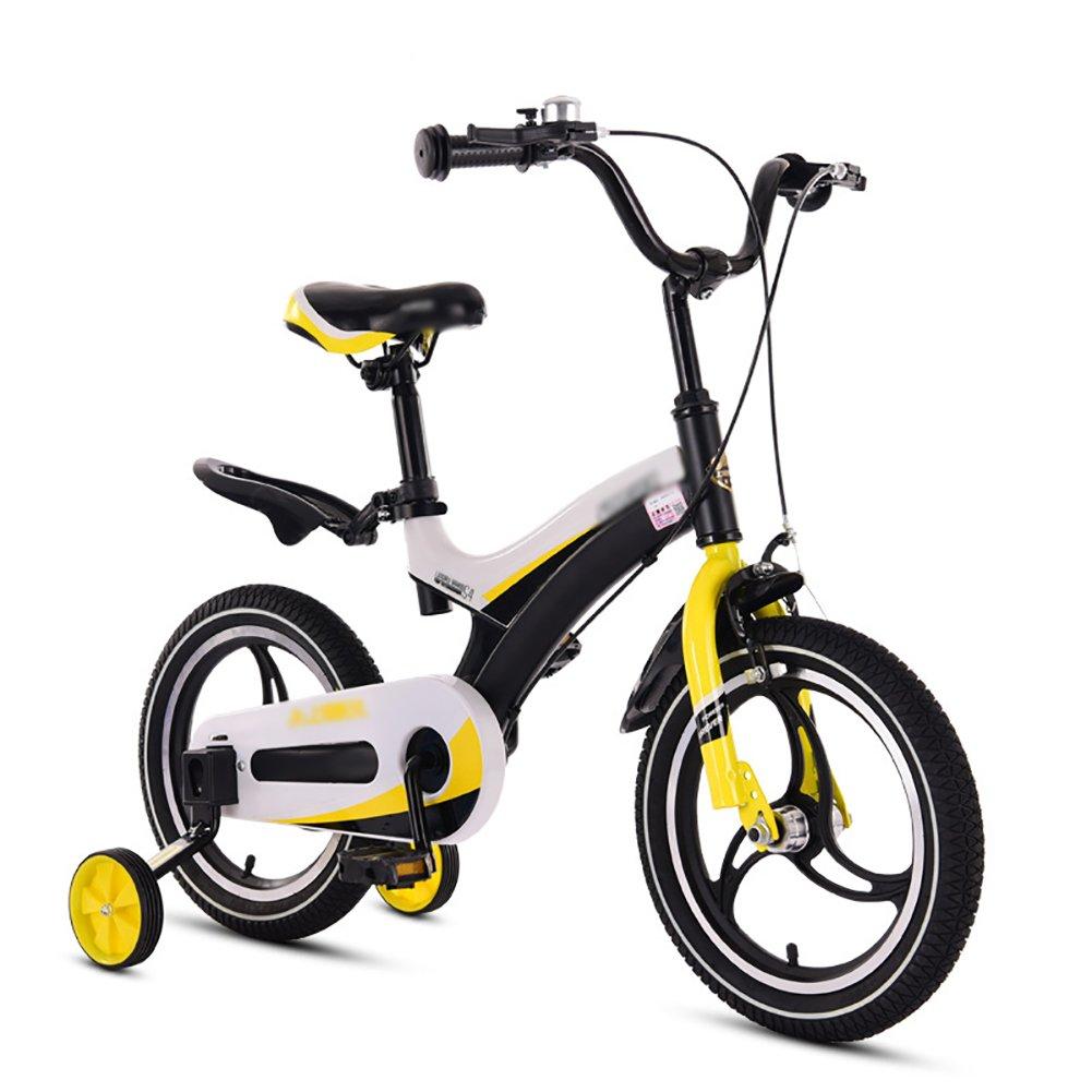 赤ちゃん少年少女自転車赤ちゃん自転車赤ちゃん自転車3歳から10歳12 14 16 18インチ青黄色赤ピンク B07DVVNK9S 14 inch|イエロー いえろ゜ イエロー いえろ゜ 14 inch
