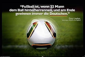 Amazon De 1art1 Empire 333469 Fussball Ist Fun Spruche