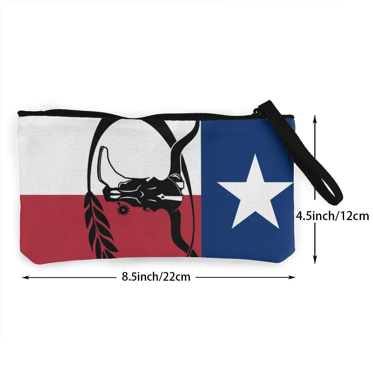 Maple Memories Texas Flag Portable Canvas Coin Purse Change Purse Pouch Mini Wallet Gifts For Women Girls
