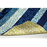FUROSHIKI- Japanese Traditional Wrapping Cloth (Kyoto-stripe: Blue/Olive green)