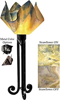 product image for Jezebel Signature Torch Light. Hardware: Black. Glass: Strawflower, Flame Style
