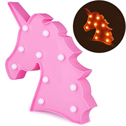 Amazon.com: Unicorn Lamp Unicorn Night Light Battery Operated ...