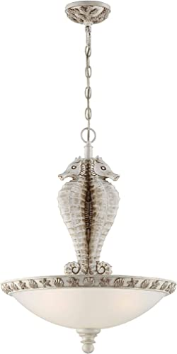 Seahaven Seahorse 3 Light Chandelier Antique White