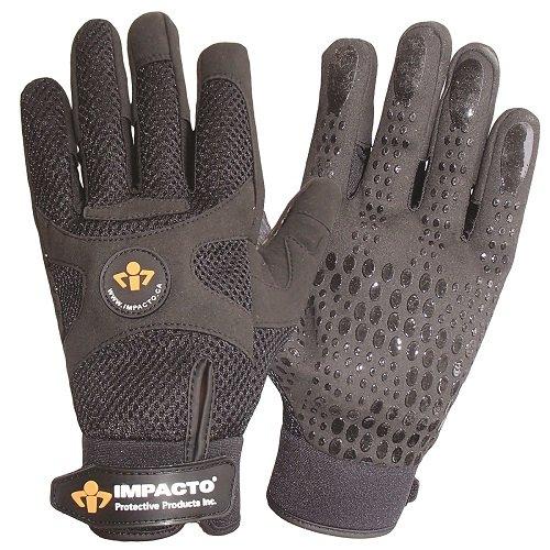 Anti Vibration Air Glove - Impacto BG40840 Anti-Vibration Mechanic's Air Glove, Black