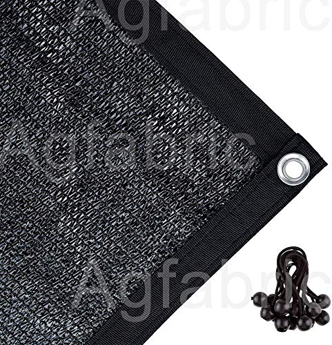 Agfabric 70% Sun-Block Shade Cloth Net Mesh Shade with Grommets for Garden Patio 10' X 20', Black