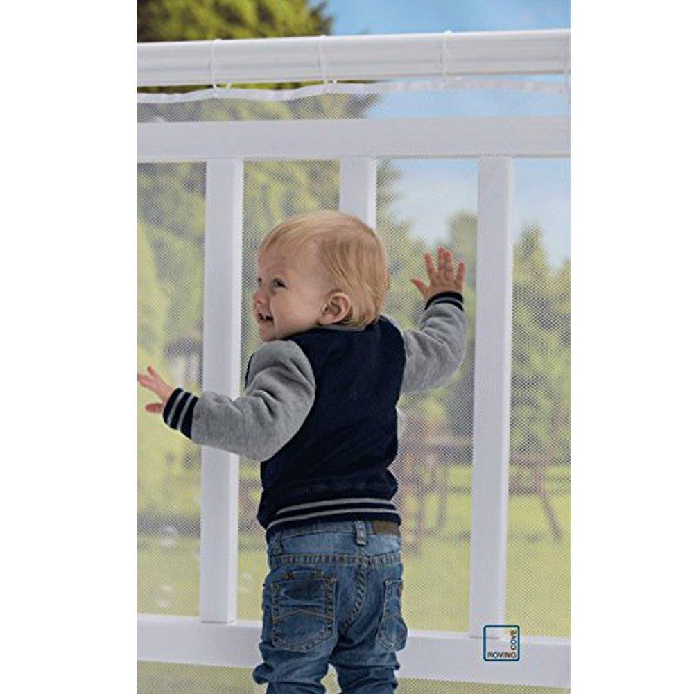 Balcón extraíbley red de seguridad de la escalera, red segura del acoplamiento del carril de Richoose, niños / juguete / seguridad del animal doméstico - 9.8ft L x 2.5ft H