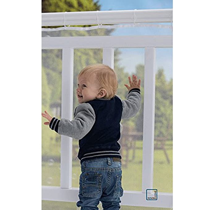 Baby Safety Gates Isoto Baby Safety Net Mesh 10ft L X 2.6ft H,children Child Toy Pet Safety Stairs