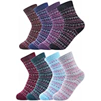 Luxina 8 Pairs Thick Wool Knitting Autumn Winter Warm Socks for Women