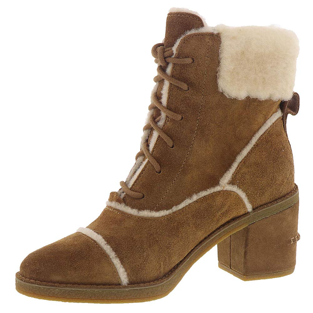 ad91264d9c9 UGG Esterly Chestnut Suede Leather Ankle BOOTS 6