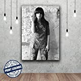 Grace Slick Jefferson Airplane Music Canvas Print - Canvas Art - Wall art - Framed Print