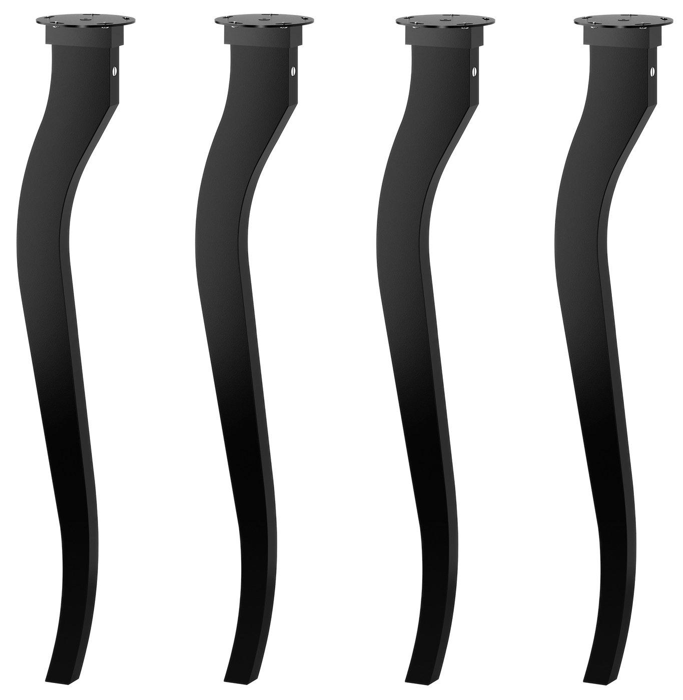IKEA Lalle Solid Wood Table Legs - 27.5'' Tall - Black - Perfect Desk Legs For Home, Work, School, Office - Set of 4