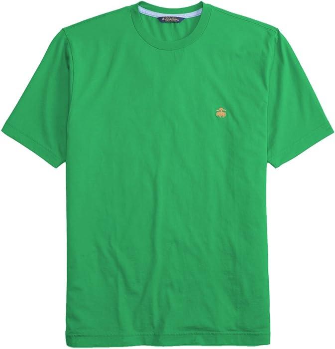 df4eb8ae0e9 Brooks Brothers Men s Supima Cotton Crewneck Tee T-Shirt Green (Medium)