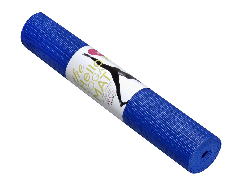 Hello Fit Yoga Mats - Budget-Friendly 10-Pack - Non-Slip - Moisture Resistant - Non-Toxic - Durable (Blue)