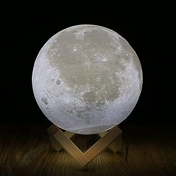Fogun Lampe Lune 3d Veilleuse Led Lampe Luna Tactile 2 Couleurs