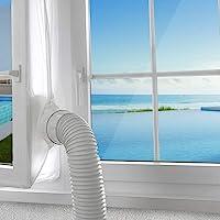 AGPTEK 300 cm fönstertätning för bärbar luftkonditionering och torktumlare, luftkonditioneringsskydd med dragkedja och…
