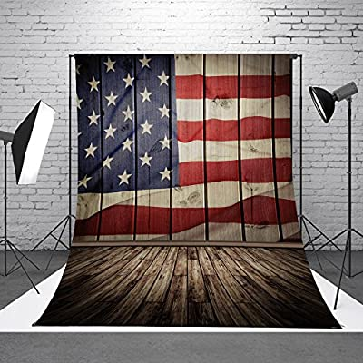 FLORATA the Stars and the Stripes Flags Theme Patriotic Banner Photo Studio Background Photography Backdrops BEST for Wedding Wall Decor Baby Children Kids Newborn Photo or Living Background